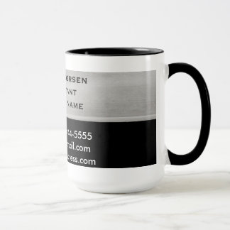 Professional Silver and Black Business Card Mugs