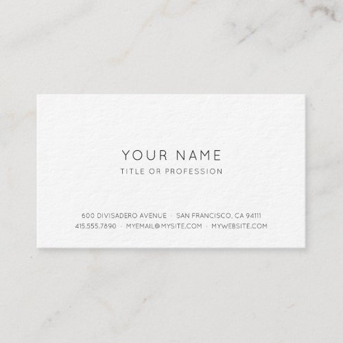Professional Simple Business Card