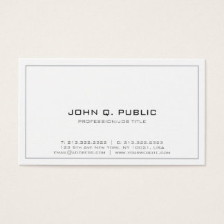 Professional Simple Design Minimalistic White Business Card