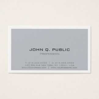 Professional Simple Design Modern Minimalistic Business Card