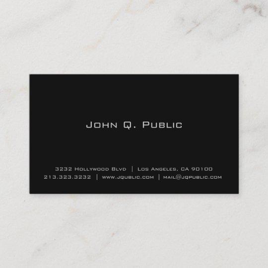 Professional simple elegant plain black business card zazzle professional simple elegant plain black business card colourmoves