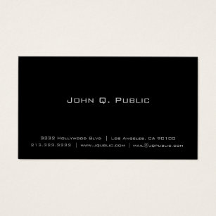 Simple business cards templates zazzle professional simple elegant plain black business card wajeb Image collections