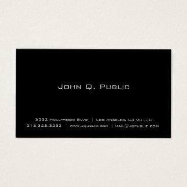 J32Teez Professional Simple Elegant Plain Black Business Card