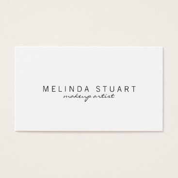 manadesignco Professional Simple Modern White Business Card