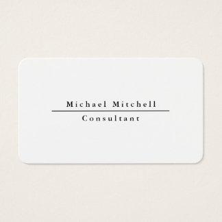 Professional Simple Plain Elegant Black & White Business Card