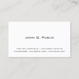 Professional business cards zazzle professional simple white business card colourmoves