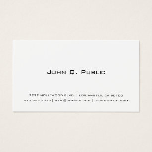 White business cards templates zazzle professional simple white business card cheaphphosting Images