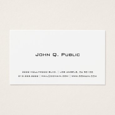 J32Teez Professional Simple White Business Card
