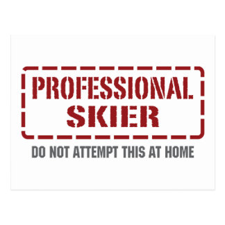 Professional Skier Postcard
