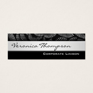 Professional Slim Line Black Business Cards