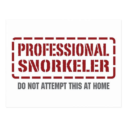 Professional Snorkeler Postcard