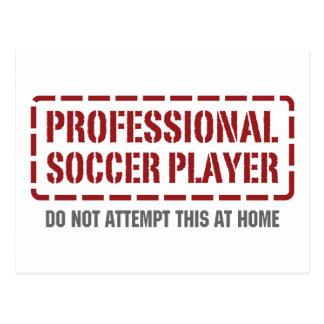Professional Soccer Player Postcard