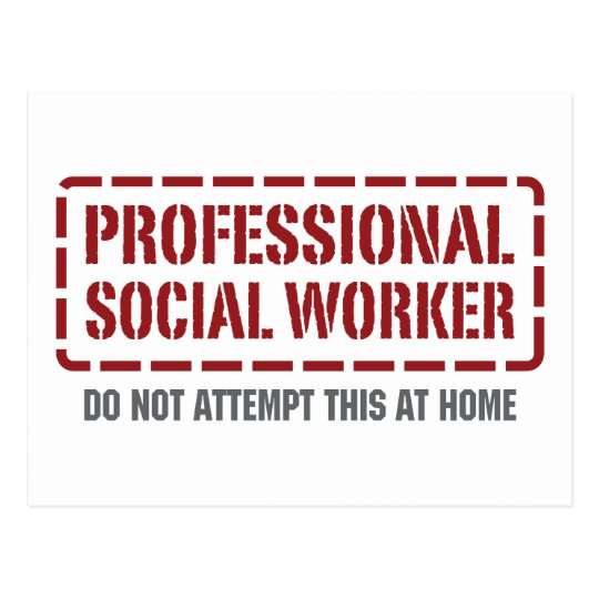 Professional Social Worker Postcard