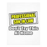 Professional Son-In-Law...Joke Letterhead Template