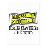 Professional Sonographer...Joke Postcard
