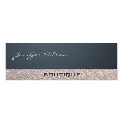 Professional sophisticated luxury glittery trendy business card templates