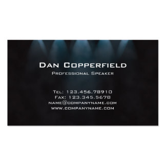 Professional Speaker Spotlight Business Card Blue