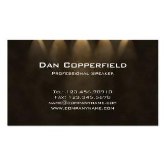 Professional Speaker Spotlight Business Card Brown