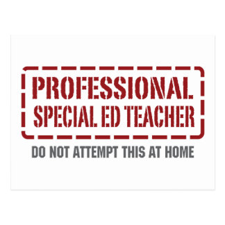 Professional Special Ed Teacher Postcard