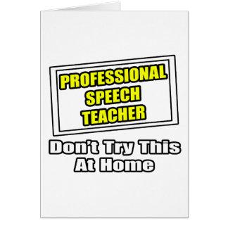 Professional Speech Teacher...Joke Cards