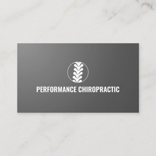 Professional Spine Logo Chiropractor Doctor Business Card