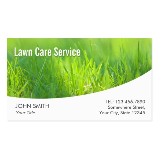 Professional spring green lawn care business card zazzle for Professional garden maintenance