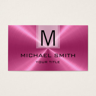 Professional Stainless Steel Metal Monogram #14 Business Card