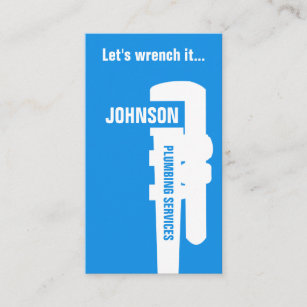 Plumbing business cards zazzle professional stand out plumber style business card colourmoves