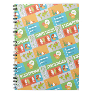 Professional Statistician Iconic Design Notebook