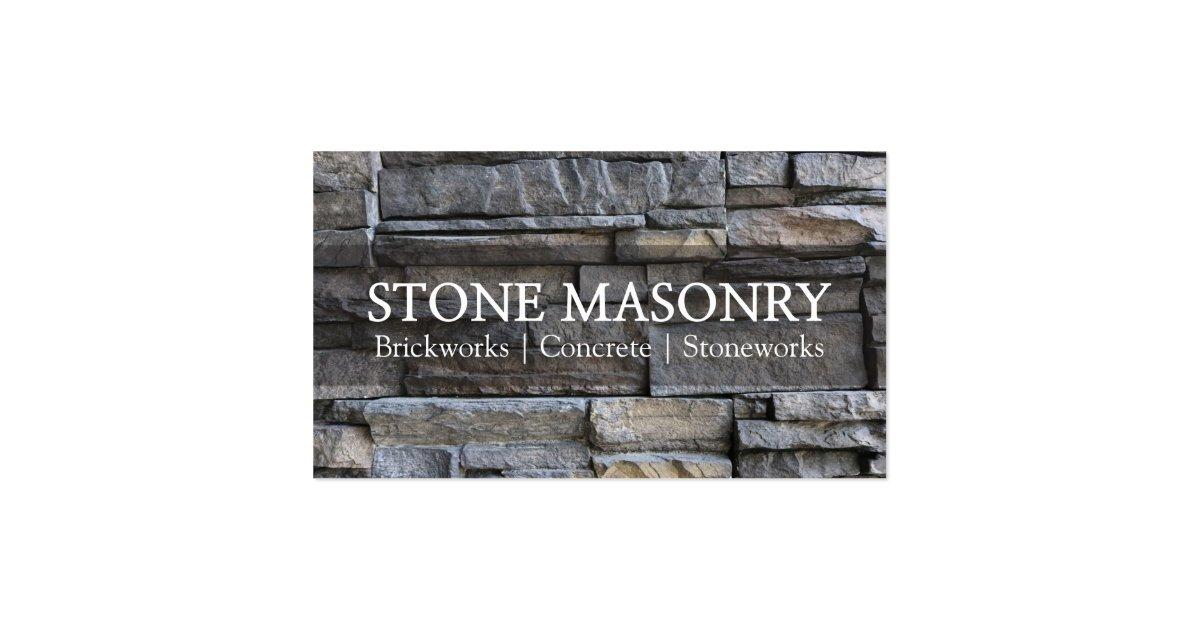 professional stone masonry business card design