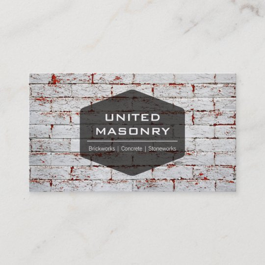 Professional stone masonry business card design zazzle professional stone masonry business card design colourmoves