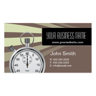 Professional Stopwatch Consulting Business Card