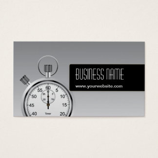 Professional Stopwatch Silver Business Card