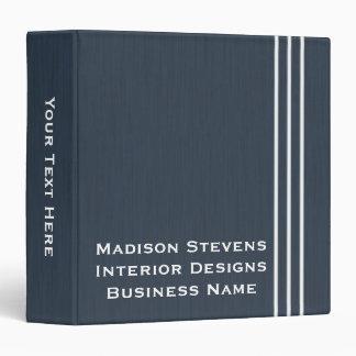 "Professional Stripes in Blue 3-Ring Binder 1.5"""