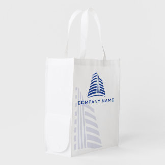 Professional, stylish real estate or construction… grocery bag