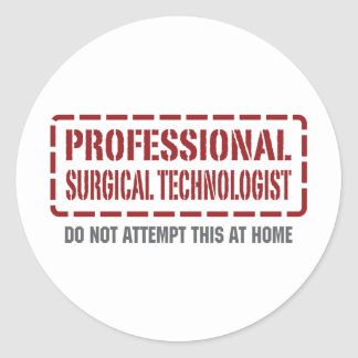 Professional Surgical Technologist Classic Round Sticker