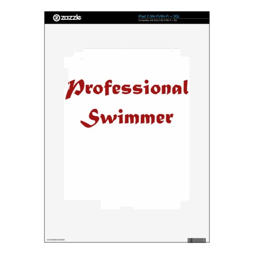 Professional Swimmer Decals For The iPad 2