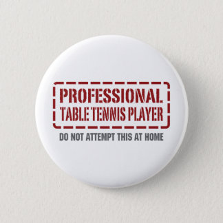 Professional Table Tennis Player Pinback Button