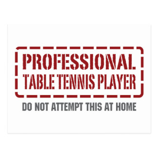 Professional Table Tennis Player Postcard
