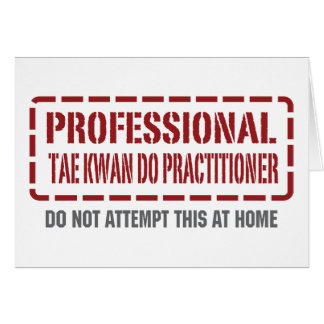 Professional Tae Kwan Do Practitioner Card