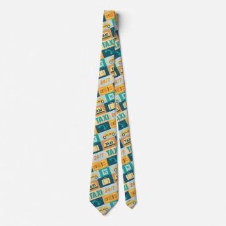 Professional Taxi Driver Iconic Designed Neck Tie