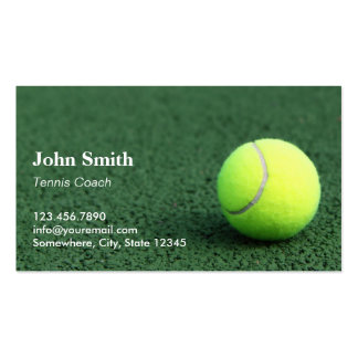 Professional Tennis Business Cards