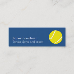 Tennis business cards zazzle professional tennis coach business cards colourmoves