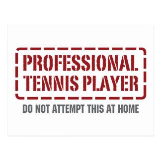 Professional Tennis Player Postcard