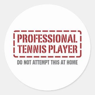 Professional Tennis Player Round Sticker