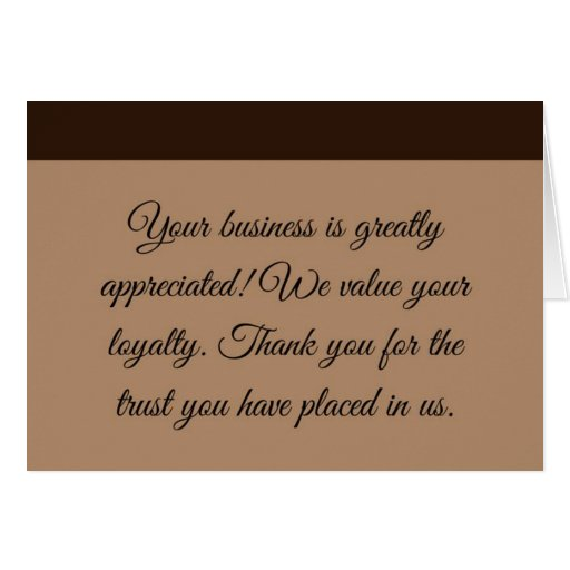 Professional Thank You Greeting Card