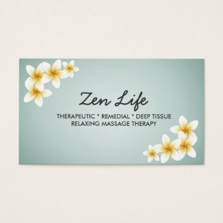 Professional Therapeutic Massage Business Card