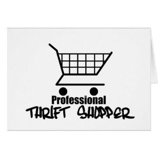 Professional Thrift Shopper Card