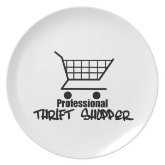 Professional Thrift Shopper Party Plates
