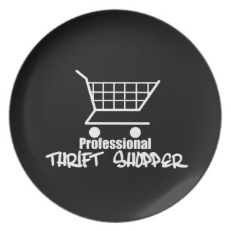 Professional Thrift Shopper Dinner Plate